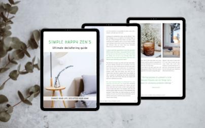 Simple happy zen minimalism vera decluttering ebook -tablet