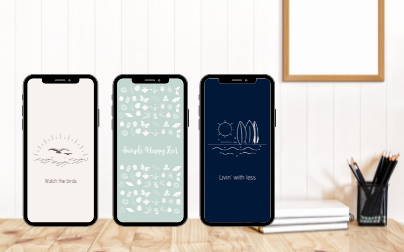 Simple happy zen minimalism vera freebie mobile wallpapers