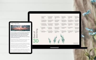 Simple happy zen minimalism vera unhurried slow living -tablet